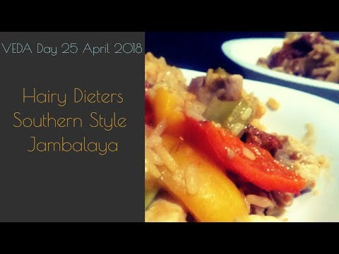 VEDA Day 24 Hairy Dieters Southern Style Jambalaya Ava Go Cooking With MariaD