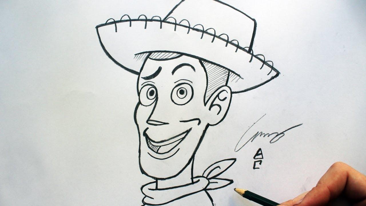 Como Desenhar O Xerife Woody Toy Story How To Draw Woody
