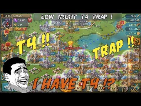 Lords Mobile || 26M MIGHT CASTLE HAS T4 !? TRAP !! REAL TROLL 😜  BURNING
