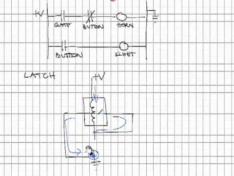 ladder logic latch mp4 youtube Self-Latching Relay Circuit Diagram