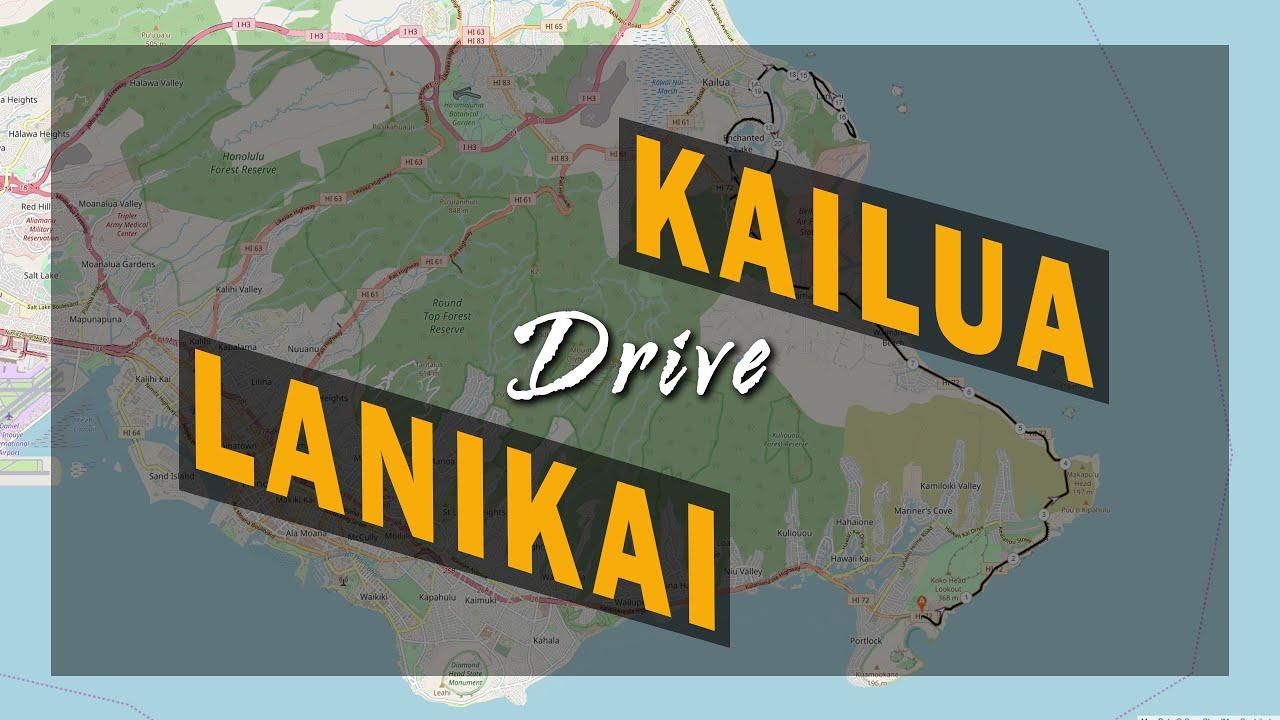 Drive From Hawaii Kai To Kailua Beach Oahu Hawaii Usa 5 26 2019 4k
