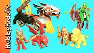 Lions + Dragons Knight Serpent Battle Wagon! Imaginext Adventure Story by HobbyKidsTV