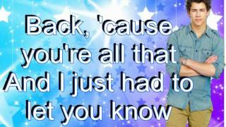 Your Biggest Fan - Nick Jonas Ft. China Anne McClain w/ lyrics