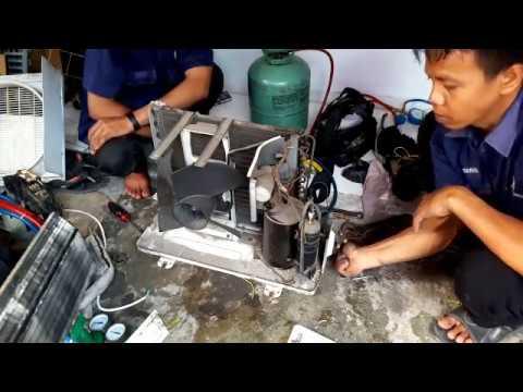 Ngintip Teknisi Service Ac Freon Habis Youtube