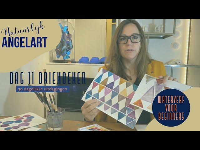 WATERVERF VOOR BEGINNERS - Driehoeken - Dag 11 van 30 dagelijkse uitdagingen in aquarelverf