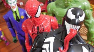 Venom Marvel inimigo Homem Aranha boneco Coringa Joker Hulk Homem de Ferro Capitão América