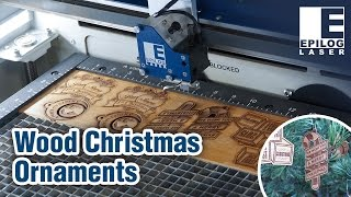 Laser Cut & Engraved Wood Christmas Ornaments