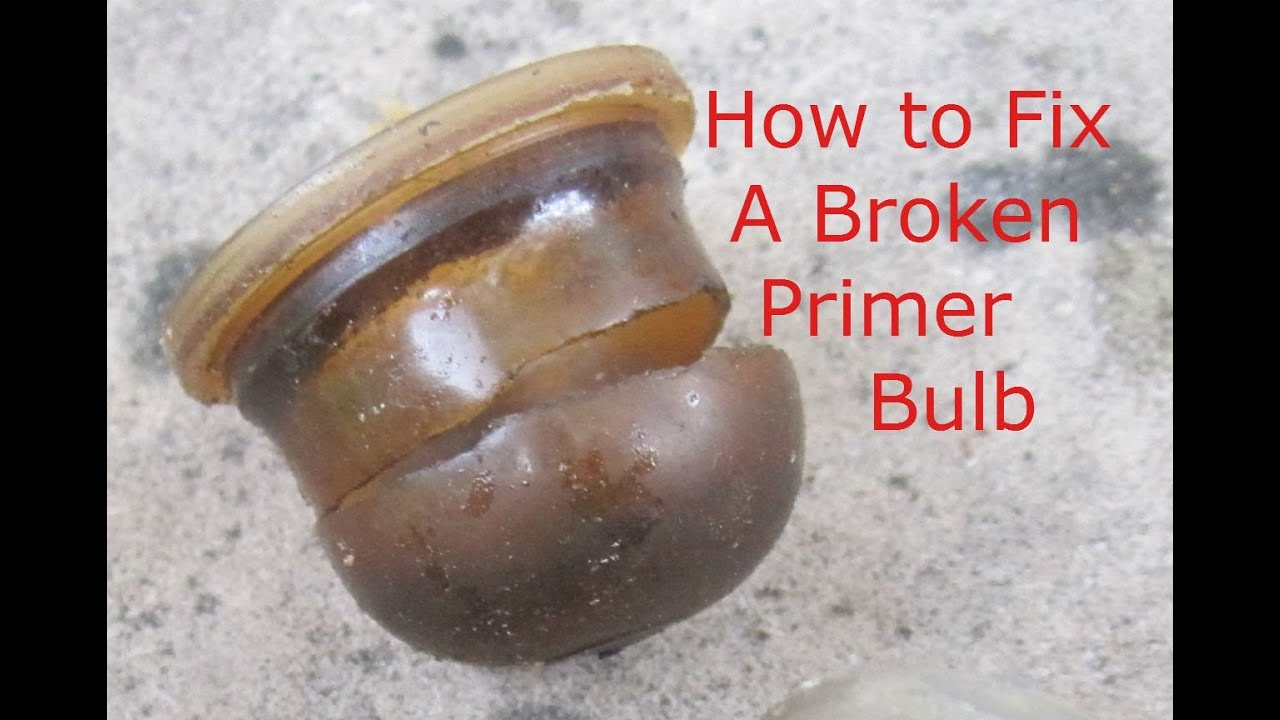 Repairing a in-line primer bulb (How to) - YouTube