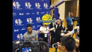 KAT Jokes With Reporters