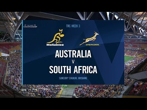 2018 Rugby Championship Round 3 | Australia Vs South Africa