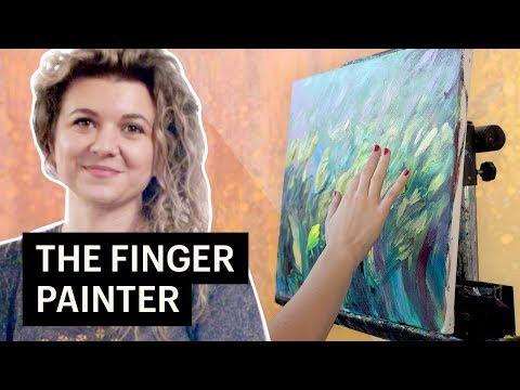 The Finger Painting Artist: How Iris Scott Made a Career Finger Painting