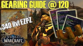🎁Up to ilvl 355+ Gearing Guide: Easy to Hard - Battle for Azeroth (BFA)