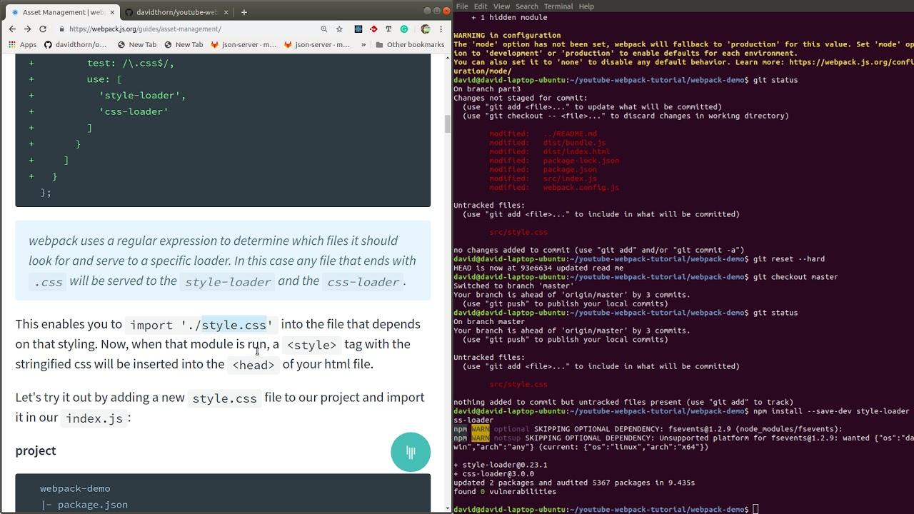 Webpack Series - Loading CSS - Part 3