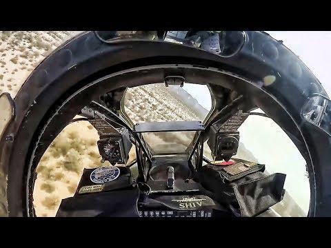 A-10C Warthog In-Flight Maneuvering • Cockpit Pilot View