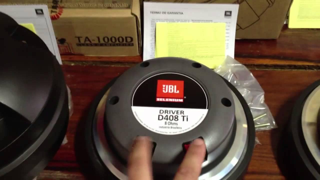 "Prv audio d4400ti 2"" titanium compression driver 8 ohm 4-bolt."