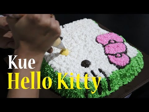 Cara Membuat Kue Hello Kitty | How To make Hello Kitty Cake