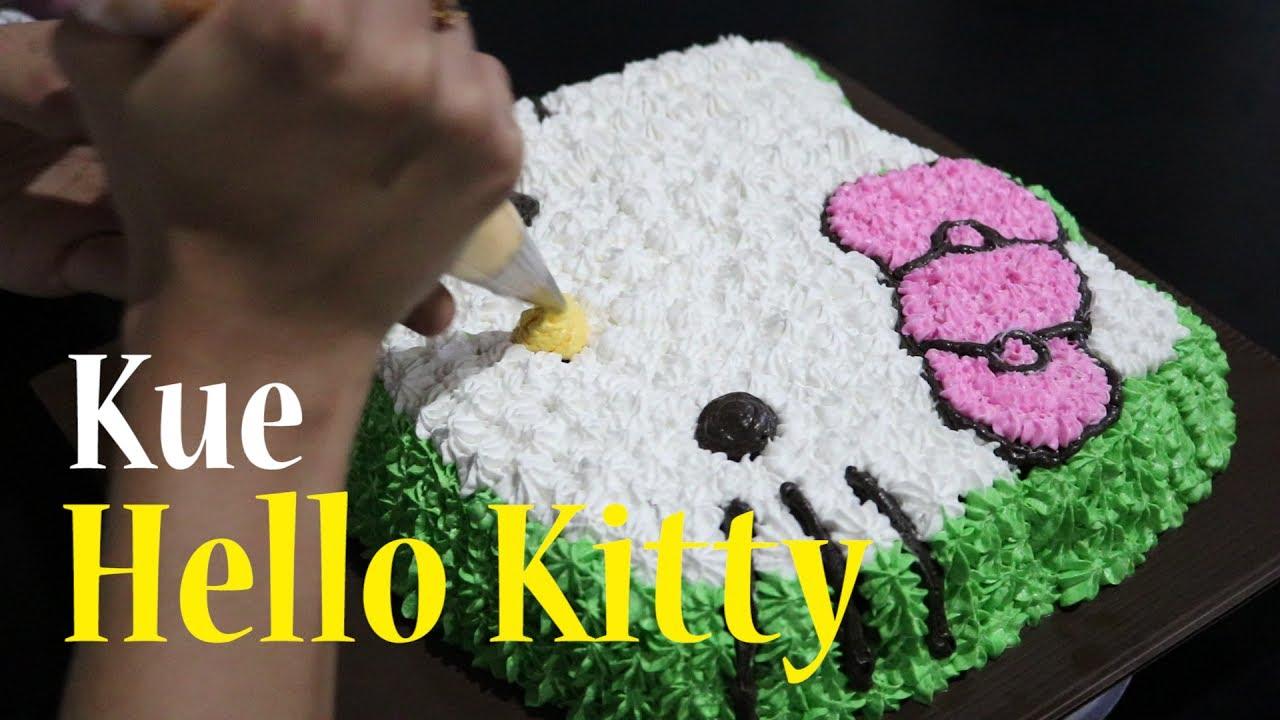 Cara Membuat Kue Hello Kitty How To Make Hello Kitty Cake