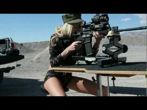 Thermal Night Vision Rifle Scope Live Fire Exercise at Nevada Desert Test Site