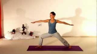 Vira Bhadrasana 2 - Visionary Hero Yoga Asana - silent Movie thumbnail