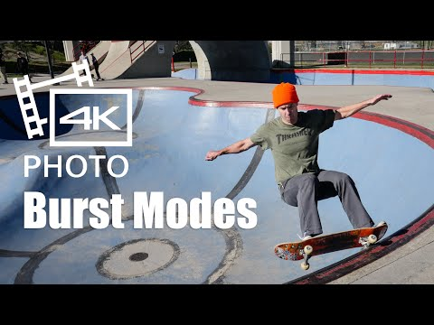 how to use panasonic gx85 4k burst photo