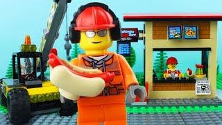 LEGO City Hot Dog STOP MOTION LEGO Hot Dog Stall Brick Building   LEGO City   By Billy Bricks