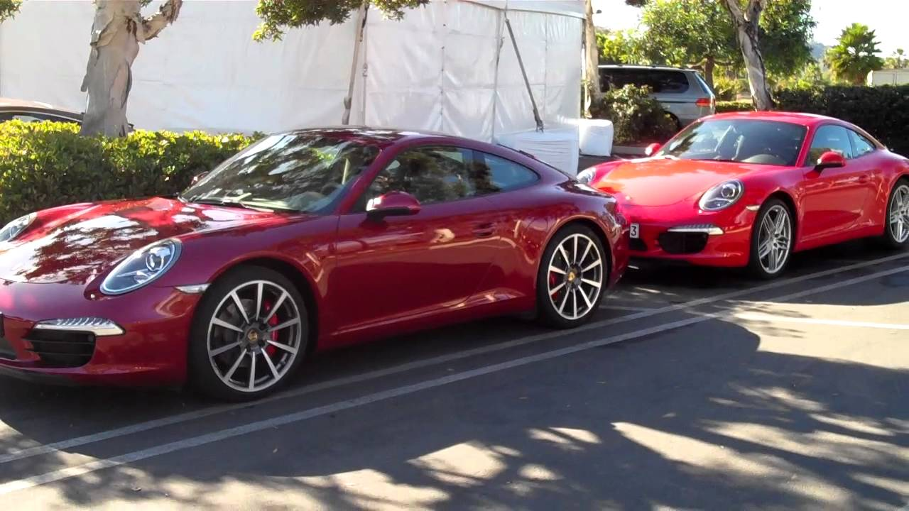 Porsche 991 Guards Red Vs Ruby Red Youtube