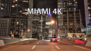 Miami 4K - Night Drive