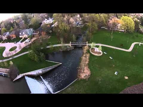 Aerial Footage Of Quarton Lake In Birmingham, MI