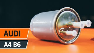 How to replace Fuel Filter on AUDI A4 (8E2, B6) - video tutorial