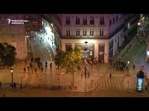 Portugese Celebrate Euro Title In Lisbon, French Police Intervene In Paris