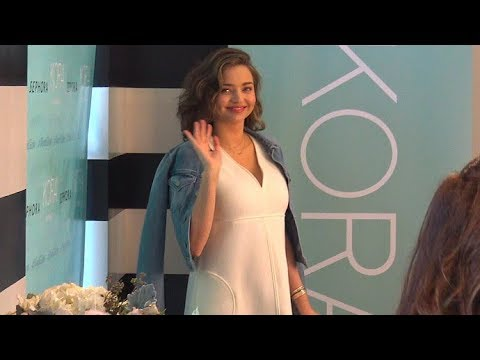 FIRST VIDEO! Pregnant Miranda Kerr Puts Her Baby Bump On Display At Kora Appearance