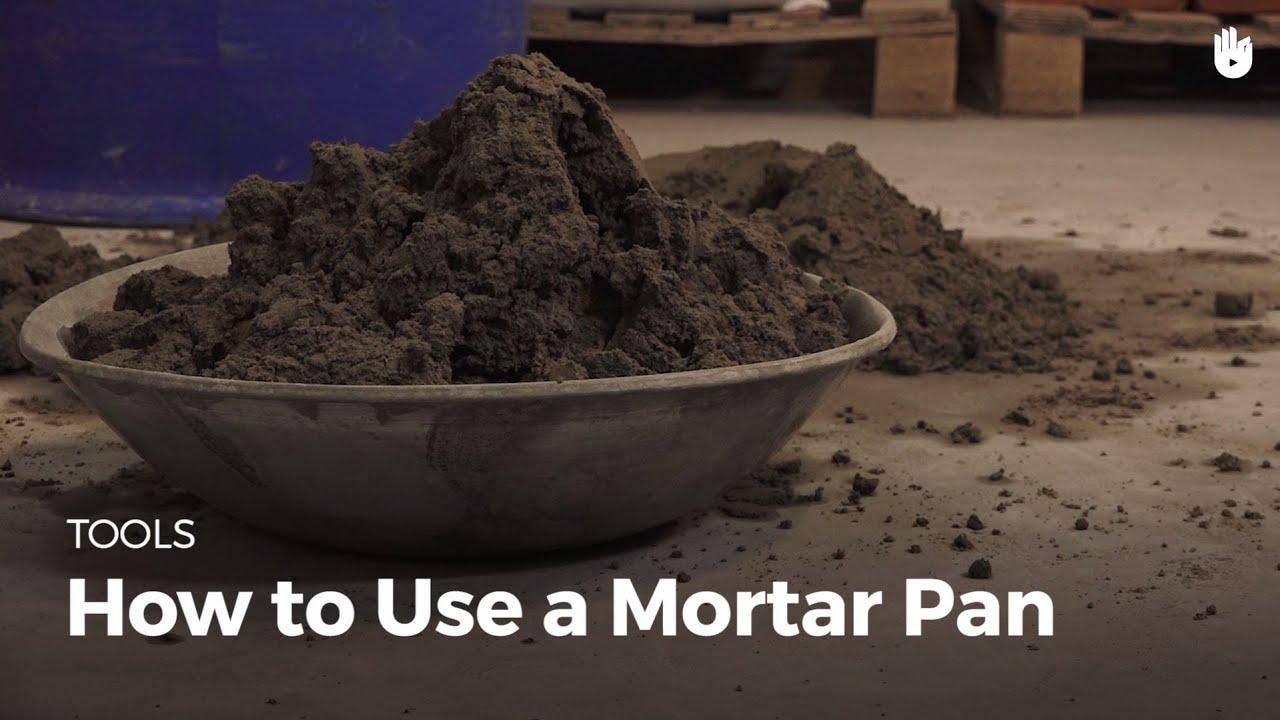 Masonry Mortar Pan : How to use a mortar pan masonry youtube