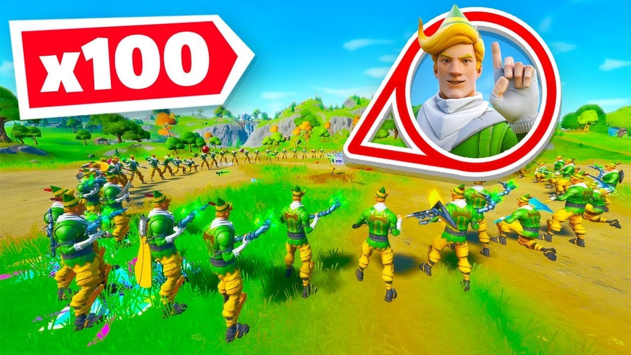 So I got 100 *RARE* Elves in a Game of Fortnite!