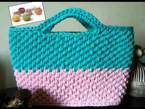 Crochet Panier Sac Facile Part1 Youtube