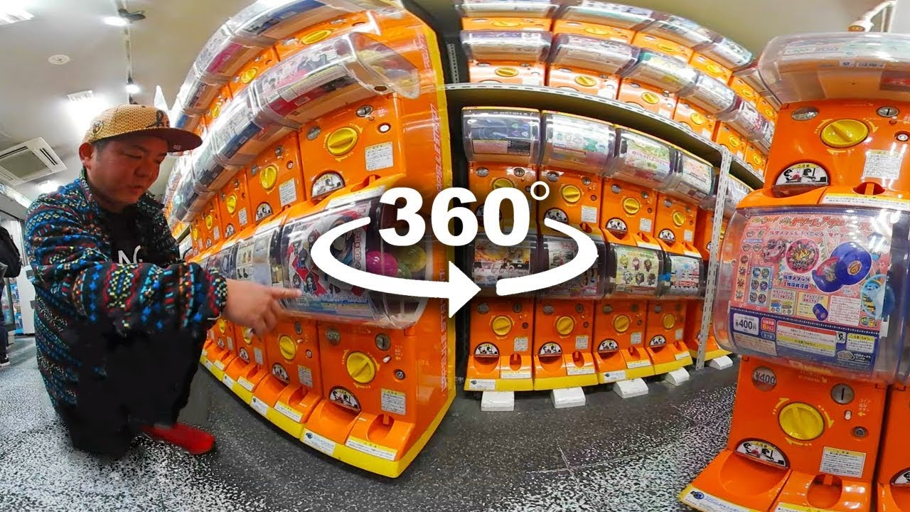 Gachapon Capsule Toy Experience Akihabara 360 Only In Japan