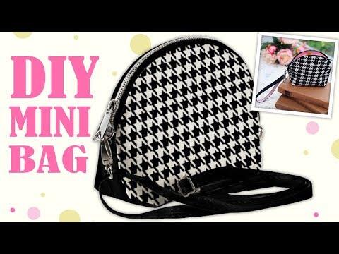 DIY NICE ZIPPER POUCH BAG TUTORIAL // Cut & Sew Making Purse Bag Idea