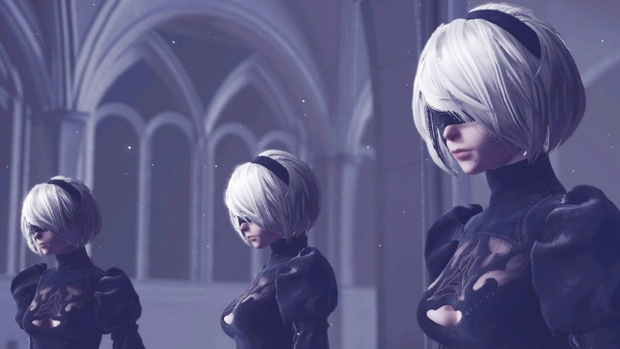 Premise Indicator Words: Nier Automata: 2B Models Boss Fight (1080p 60fps)
