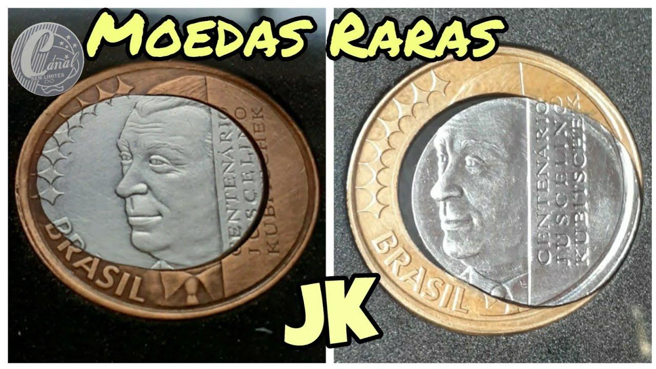 Moeda rara de 1 real 2002 comemorativa JK, vale um bom dinheiro. #moedade1realvaliosa
