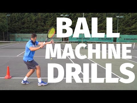 Tennis Ball Machine Drills - Improve Your Forehand, Backhand And Volleys