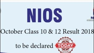 Nios October Result 2018