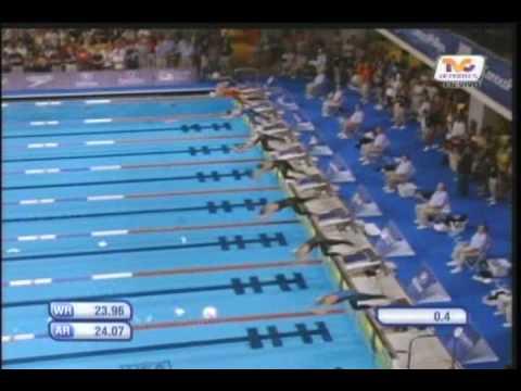 Dara Torres 50m freestyle final Indianapolis 2009