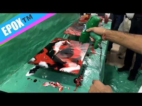 How to make epoxy resin countertop table top DIY