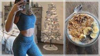 My Workout Routine After A BIG Mukbang! + Healthy Smoothie Bow…