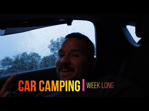 #sleeping in car, Car Camping: Living In my car for a week