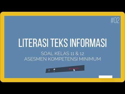 02 Contoh Soal Akm Kelas 11 Dan 12 Literasi Teks Informasi Youtube