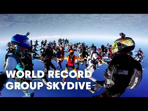 World Record Group Skydive: 164-Person Formation