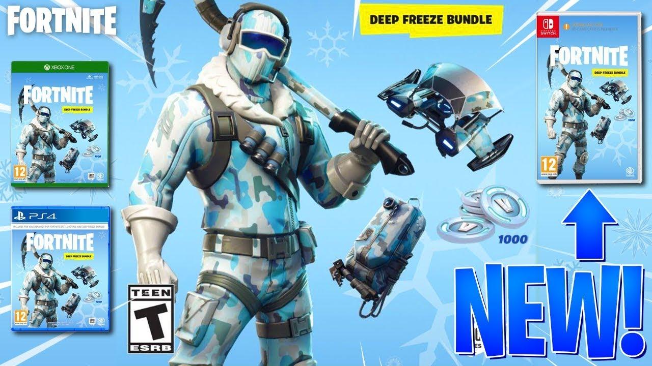 New Leaked Skin Bundle In Fortnite Exclusive Deep Freeze