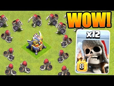 NEW MAX LEVEL GIANT SKELETONS ARE OP!! - Clash Of Clans