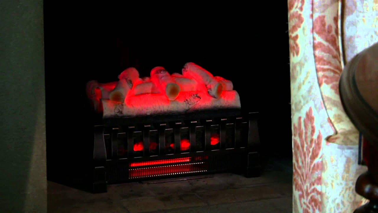 Duraflame Infrared Log Set Heater W/Flame Effect U0026 Remote On QVC   YouTube