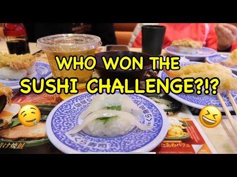 WHO WON THE SUSHI CHALLENGE?!?